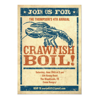 Crawfish Boil Invitations