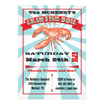 Crawfish Boil Party Poster Invitations