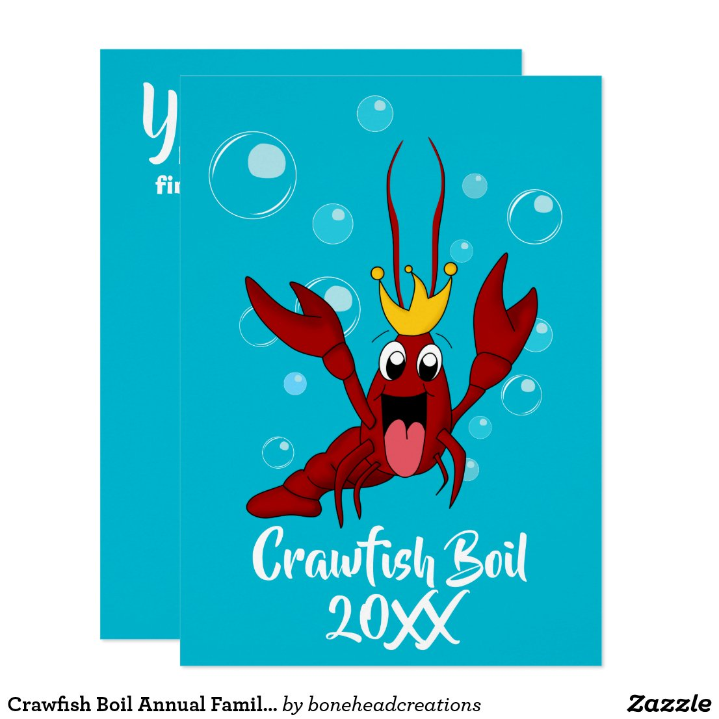 Crawfish Boil with the Crawfish King Invitation