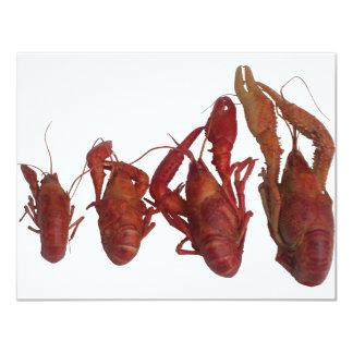crawfish cell phone signal 11 cm x 14 cm invitation card
