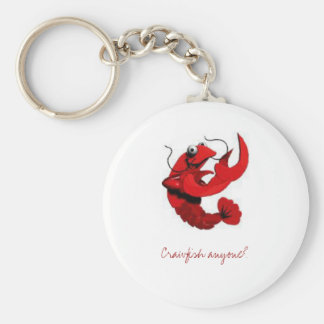 crawfish-character, Crawfish anyone? Basic Round Button Key Ring