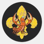 Crawfish Fleur De Lis Sticker
