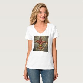 Crawfish Fleur-De-Lis T Shirt