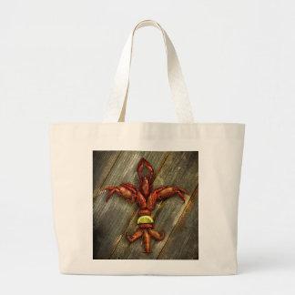 Crawfish Fleur-De-Lis Tote Bag