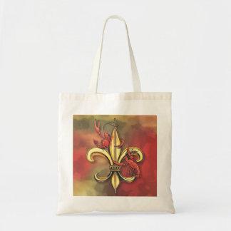 Crawfish Fleur De Lis Tote Bag