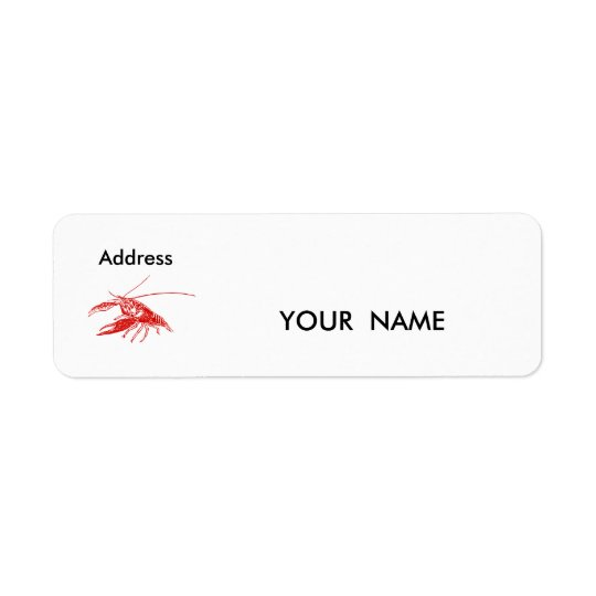 crawfish , Label Return Address Label
