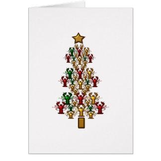 Crawfish Lobster Christmas Tree Greeting Card