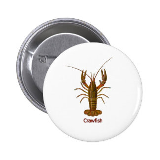 Crawfish Logo 6 Cm Round Badge