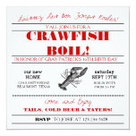 "Crawfish or Low Country Boil Invitation 5.25"" Square Invitation Card"