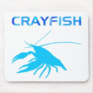 crawfish s silhouette Light blue マウスパッド