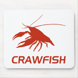 crawfish s silhouette Red マウスパッド