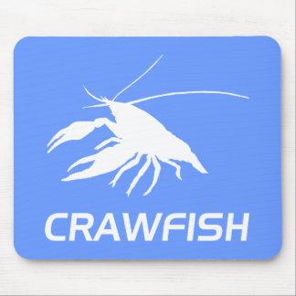crawfish s silhouette White マウスパッド