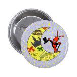 Crawfish Top Hat Crescent Moon Badges