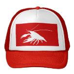 crawfish's silhouette (White) トラッカーハット