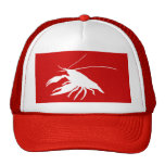crawfish's silhouette (White) Cap
