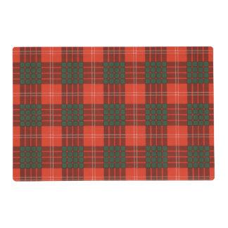 Crawford clan Plaid Scottish tartan Laminated Placemat