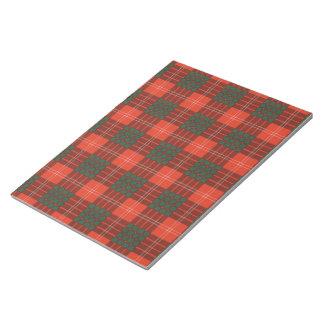 Crawford clan Plaid Scottish tartan Notepad