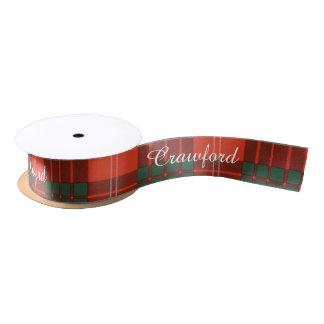 Crawford clan Plaid Scottish tartan Satin Ribbon