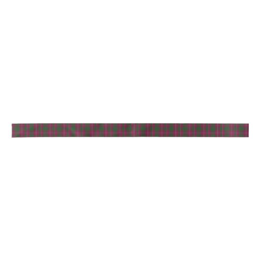 Crawford Clan Tartan Plaid Ribbon Satin Ribbon