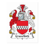 Crawford Family Crest Postcards