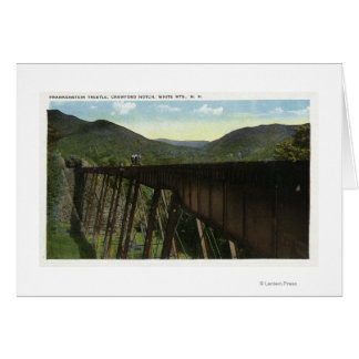 Crawford Notch View of Frankenstein Trestle Card