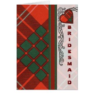 Crawford Scottish Tartan Card