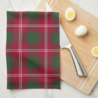 Crawford Scottish Tartan Plaid Tea Towel