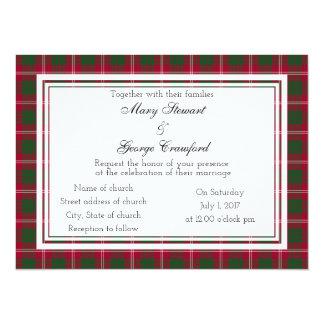 Crawford Scottish Wedding Invitation
