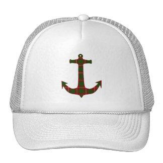 Crawford Tartan Plaid Anchor Mesh Hat