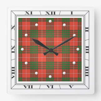 Crawford Tartan Wall Clock