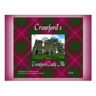 Crawford's Crawford Castle Ale Postcard