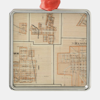 Crawfordsville, Montgomery Co with Brownsburg Christmas Ornament