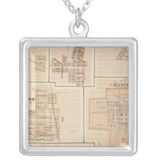 Crawfordsville, Montgomery Co with Brownsburg Silver Plated Necklace