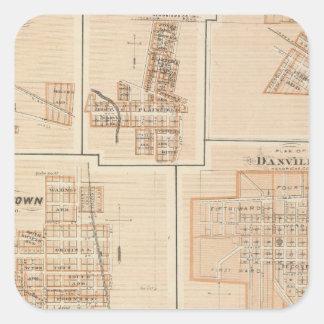 Crawfordsville, Montgomery Co with Brownsburg Square Sticker