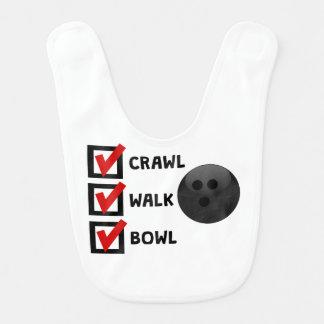 Crawl Walk Bowl Bib