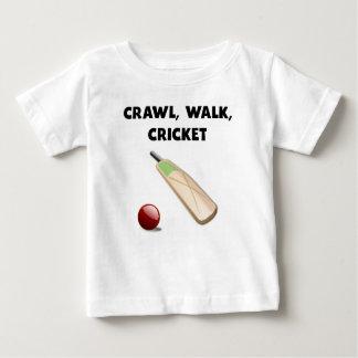 Crawl Walk Cricket Baby T-Shirt