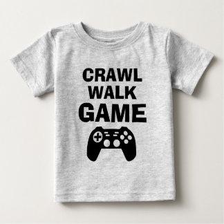CRAWL WALK GAME funny gaming quote baby shirts