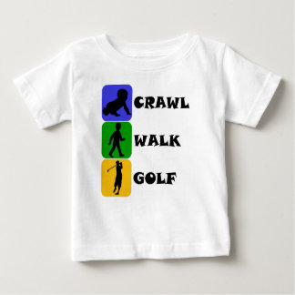 Crawl Walk Golf Baby T-Shirt