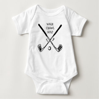Crawl Walk Golf Golfer Golfing Baby Bodysuit