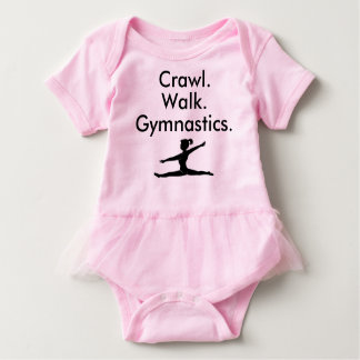 Crawl Walk Gymnastics Gymnast Baby Bodysuit