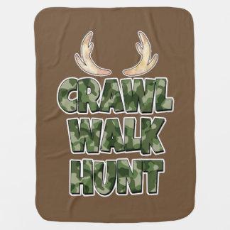 Crawl Walk Hunt baby boy Blanket