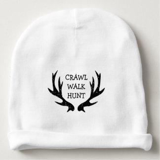 CRAWL WALK HUNT new baby beanie hat