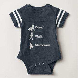 Crawl Walk Motocross Baby Bodysuit