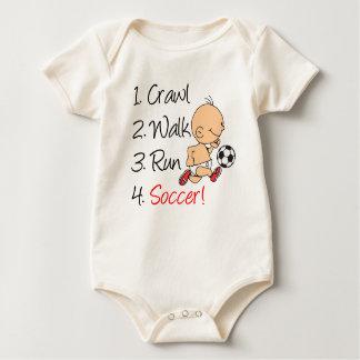 Crawl Walk Run Soccer Baby Bodysuit