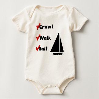 Crawl Walk Sail Baby Bodysuit
