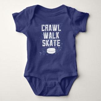 CRAWL WALK SKATE ice hockey baby bodysuit gift