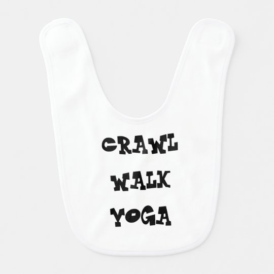 CRAWL WALK YOGA BABY BIB SHOWER GIFT