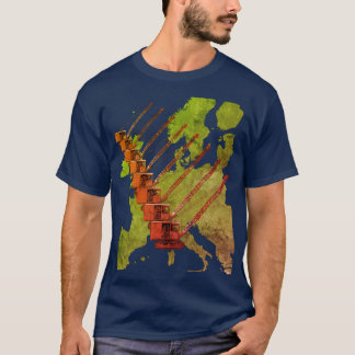 Crawler Crane Map of Europe Operating Engineer T-Shirt