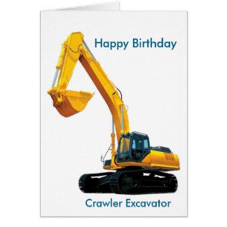 Crawler Excavator image for Boy's Birthday-Card Greeting Card