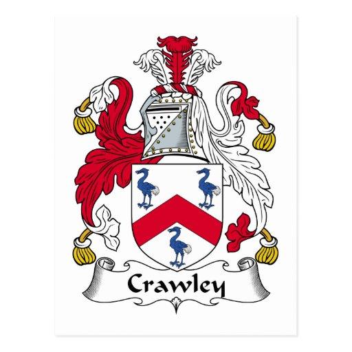 Crawley Family Crest Postcards